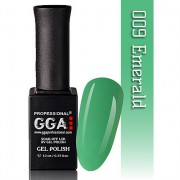 Гель лак G.G.A.Professional №9 (emerald), 10ml